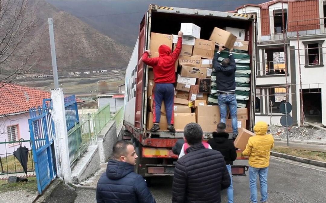 Medizinische Hilfsgüterlieferung
